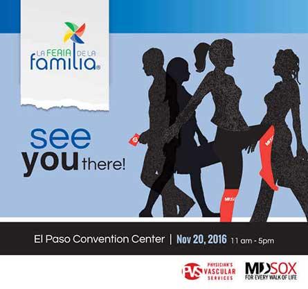 Invite to La Feria de la Familia on November 20 at the El Paso Convention Center