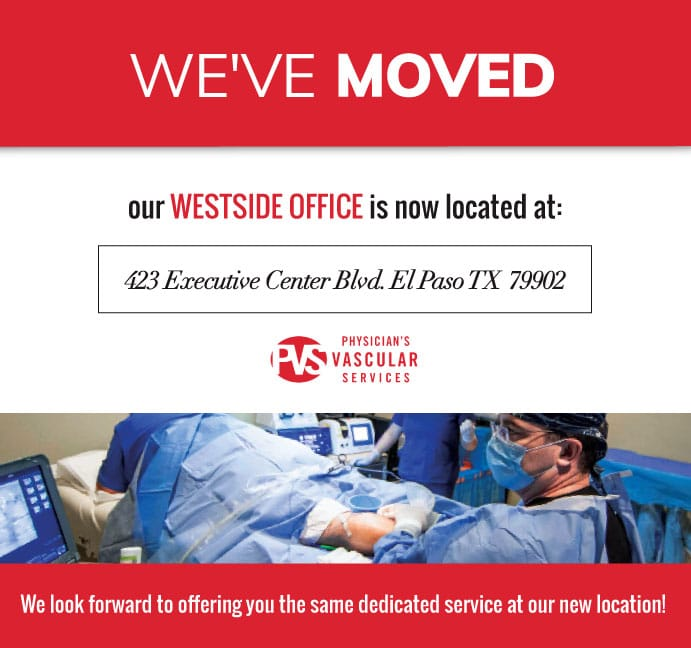Westside clinic has moved!  We are now at 423 Executive Center Blvd, El Paso